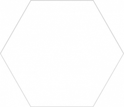 Керамогранит BASIC HEX.25 White 25x22
